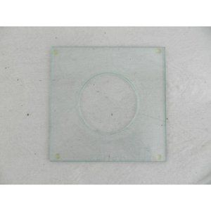 Clear glass square candle plate holder modern